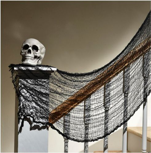 Creepy Halloween Cloth, Black, 5-ft Product image