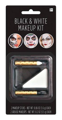 Maquillage d'Halloween noir et blanc