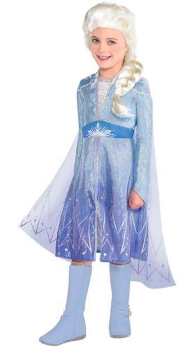 Costume d'Halloween d'Elsa de la Reine des neiges 2, enfants, petit