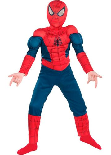 Costume d'Halloween de Spiderman de Marvel avec muscles, enfants, moyen
