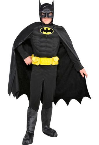DC Comics Batman Kids' Halloween Costume with Muscles, Medium