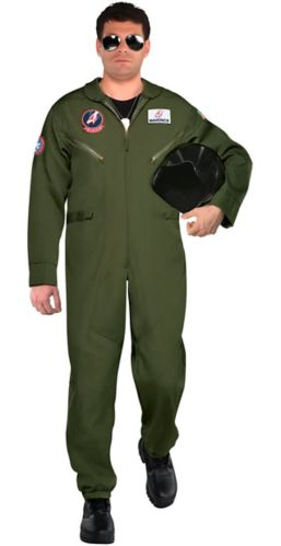 Top Gun Flightsuit Costume, Adult, Plus Size