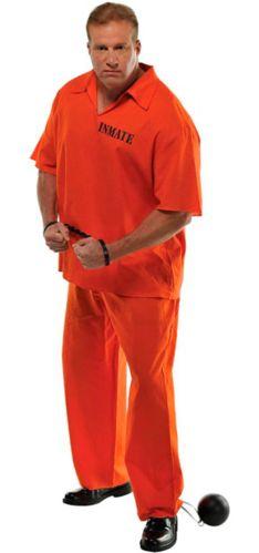 Costume de prisonnier, adulte, grande taille
