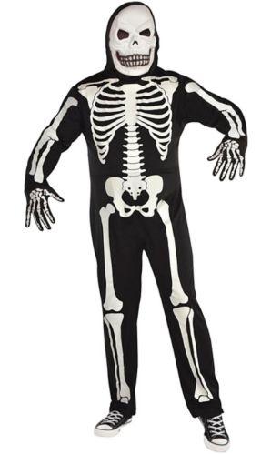 Costume d'Halloween de squelette, adulte, taille plus
