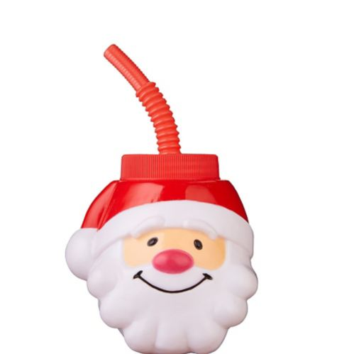 Santa Cup with Straw