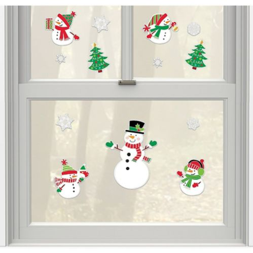Christmas Snowman Stickers, 14-pc