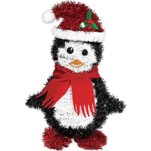 Tinsel Penguin Santa