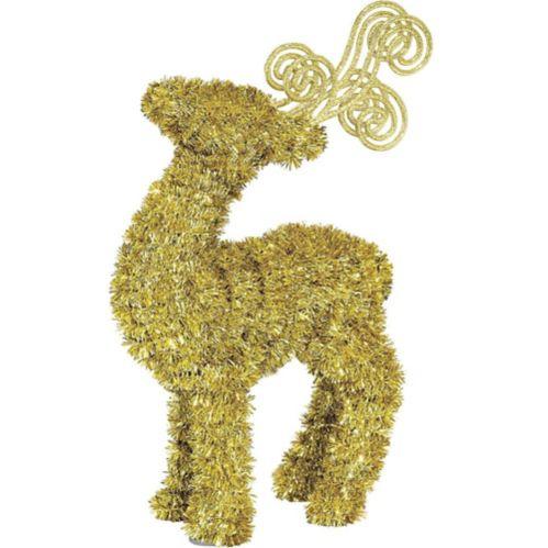 Gold Tinsel Reindeer