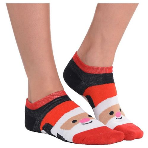 Chaussettes montant aux chevilles père Noël souriant