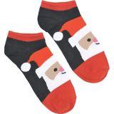 Smiling Santa Ankle Socks