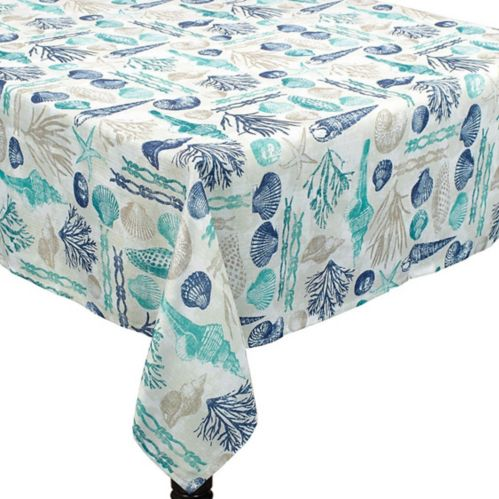 Sea Sand Sun Fabric Tablecloth