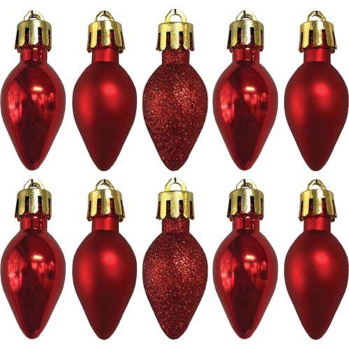 Bulb Ornaments, 10-pk