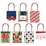 Kraft Christmas Gift Bags, 7-pk | Amscannull