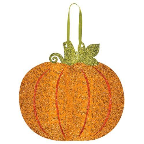 Glitter Pumpkin Sign