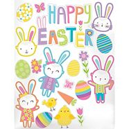 Easter Hello Bunny Decals, 20-pc