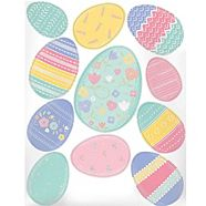 Pretty Pastel Easter Egg Decals, 11-pc