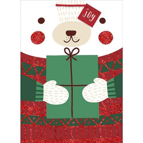 Glitter Winter Polar Bear Gift Bag
