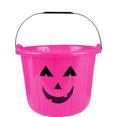 Pink Jack-o'-Lantern Treat Bucket