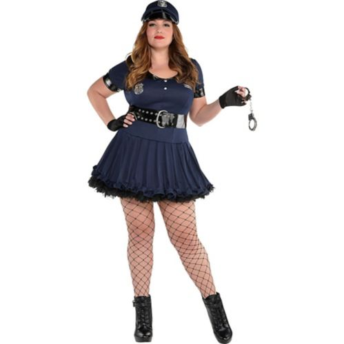 Adult Locked 'N' Loaded Cop Costume, Plus Size
