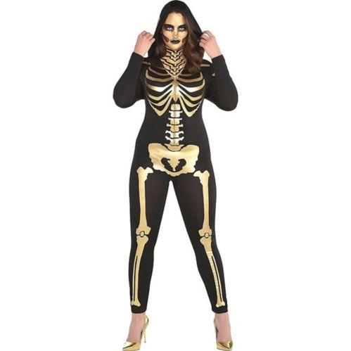 24 Carat Bones Women's Skeleton Costume, Plus Size