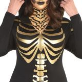 24 Carat Bones Women's Skeleton Costume, Plus Size | Amscannull