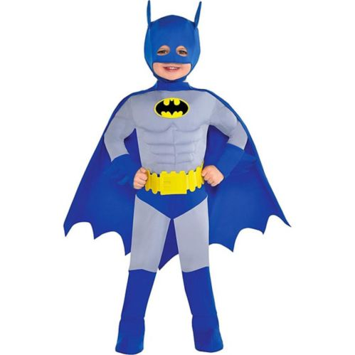 The Brave & the Bold Toddler Batman Muscle Costume