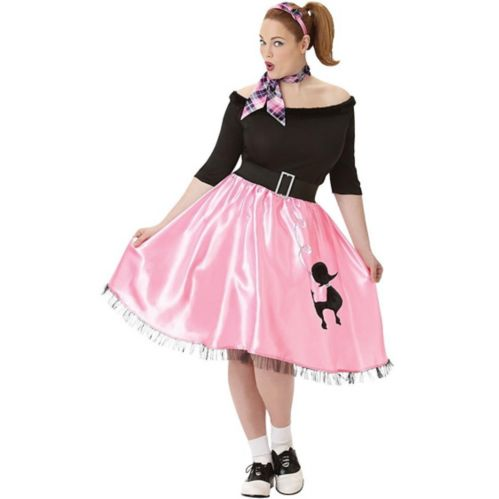 Adult Plus Size Sock Hop Sweetie 50s Costume