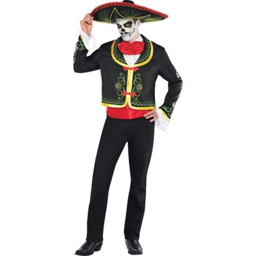 Adult Day of the Dead Sombrero Senor Costume