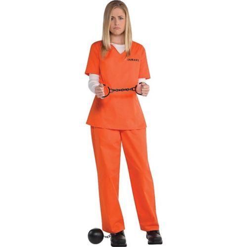 Adult Orange Prisoner Costume