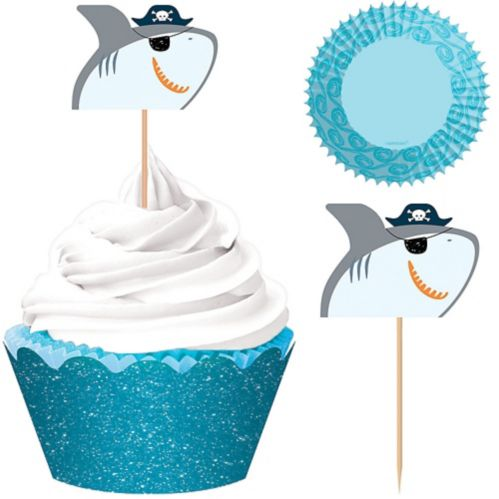 Pirate Shark Cupcake Kit for 24