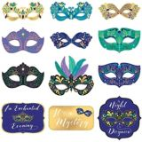 A Night in Disguise Masquerade Cutouts, 12-pc