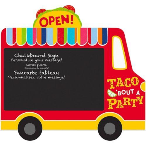 Taco Truck Chalkboard Easel Sign