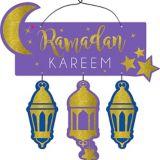 Glitter Ramadan Kareem Stacked Sign
