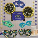 A Night In Disguise Masquerade Room Decorating Kit, 12-pc