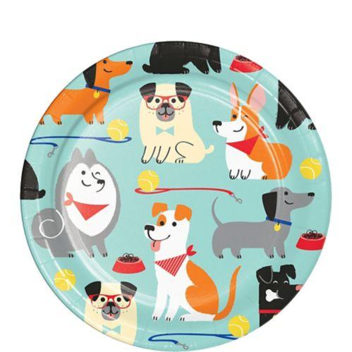 Dog Party Dessert Plates, 8-pk