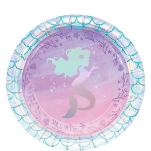 Iridescent Mermaid Party Dessert Plates, 8-pk