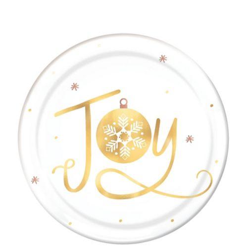 Metallic Joy Plastic Dessert Plates, 4-pk