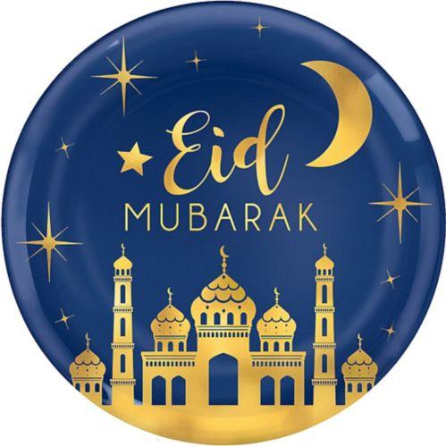 Eid Mubarak Platter, Metallic Gold