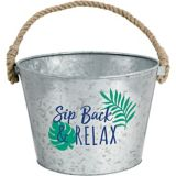 Tropical Jungle Galvanized Bucket | Amscannull