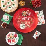 Holly Merry Christmas Dessert Plates, 7-in, 8-pk | Amscannull