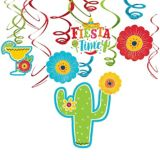 Fiesta Time Swirl Decorations, 6-pc