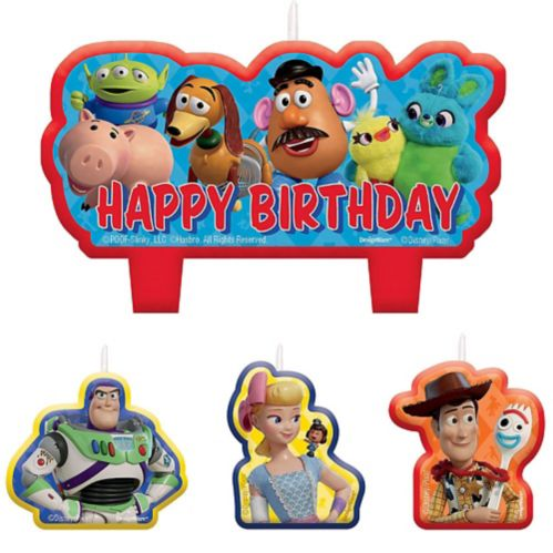 Disney Toy Story 4 Candles, 4-pc