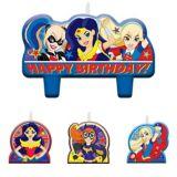 DC Super Hero Kids' Birthday Candles, 4-pc   WARNER BROSnull