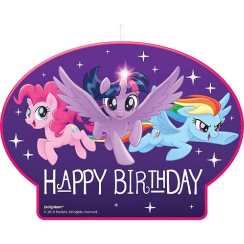 My Little Pony Birthday Candle