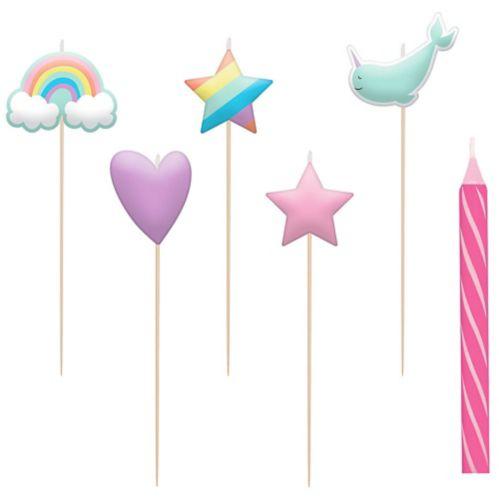 Magical Rainbow Birthday Candles, 8-pk