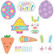Hooray Easter Hello Bunny Cut-outs, 30-pk