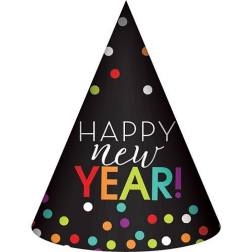 Rainbow Dots Happy New Year Party Hat