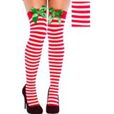 Christmas Thigh High Stockings with Bows | Amscannull
