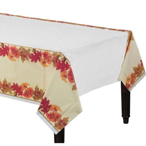 Festive Fall Plastic Table Cover