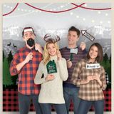 Cozy Christmas Scene Setter with Photo Booth Props